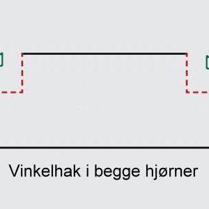 Stenshoppen.dk | Vinkelhak begge hjørner