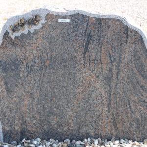 Stenshoppen.dk | Halmstad med kant og rose 73cm x 60cm