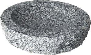 Stenshoppen.dk | Rund fuglebad, grå granit Ø40cm