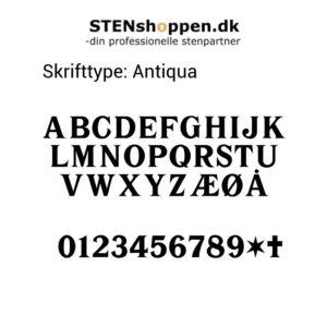 STENshoppen.dk | Skrifttype Antik