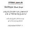 STENshoppen.dk | Skrifttype Brush Script