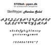 STENshoppen.dk | Skrifttype Harlow Solid