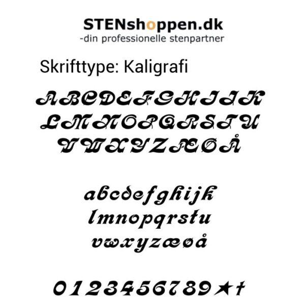 STENshoppen.dk | Skrifttype Kaligrafi