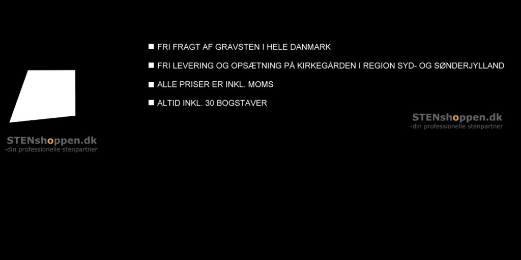 STENshoppen.dk | Gratis fragt af gravsten